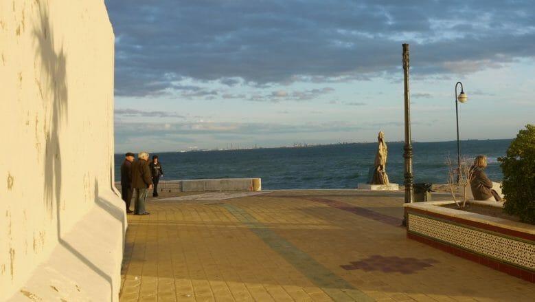 Abendstimmung mit Blick auf Cádiz