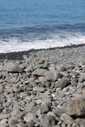 Auf La Gomera überwiegen Kieselstrände