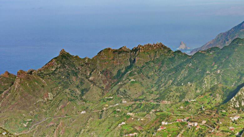 Blick vom Mirador Pico del Ingles auf die Nordküste des Anaga-Gebirges