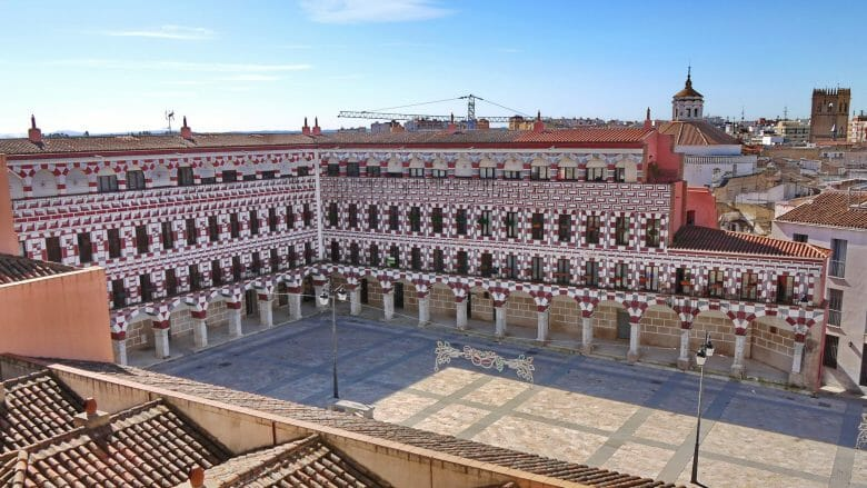 Die mittelalterliche Plaza Alta in Badajoz
