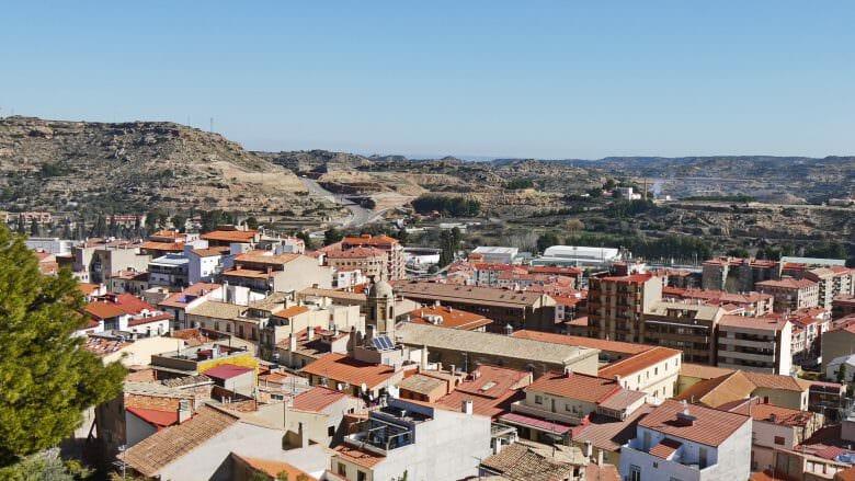 Alcañiz liegt in einer kargen und trockenen Umgebung