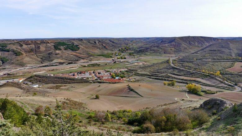 Blick in das Tal des Jalón