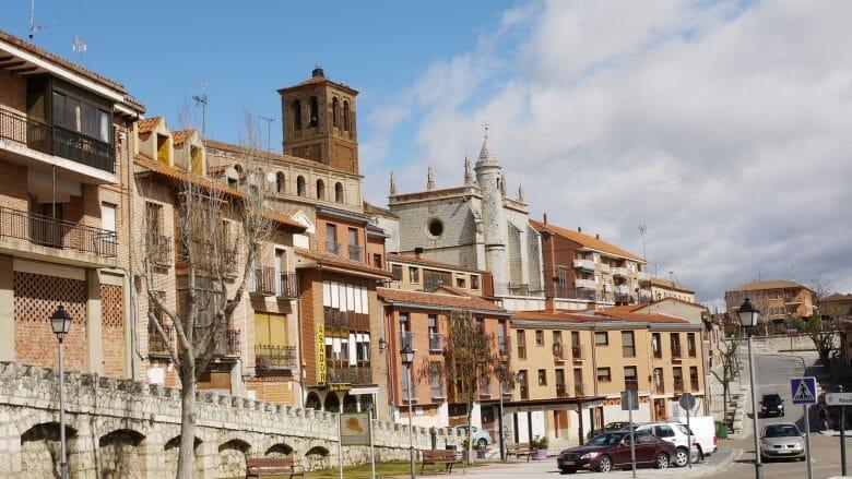 Blick auf Tordesillas (Provinz Valladolid)
