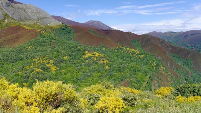 Die Bergwelt südlich von Ponferrada