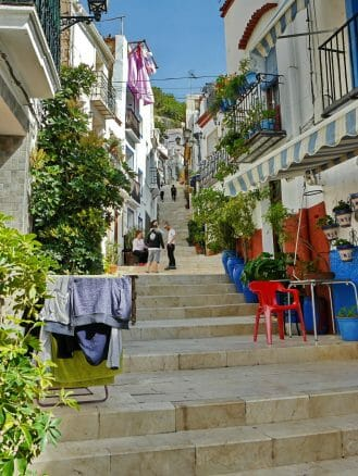 Im Viertel Barrio Santa Cruz von Alicante