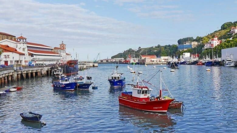 Fischerboote im Hafen von Bermeo an der Baskischen Küste
