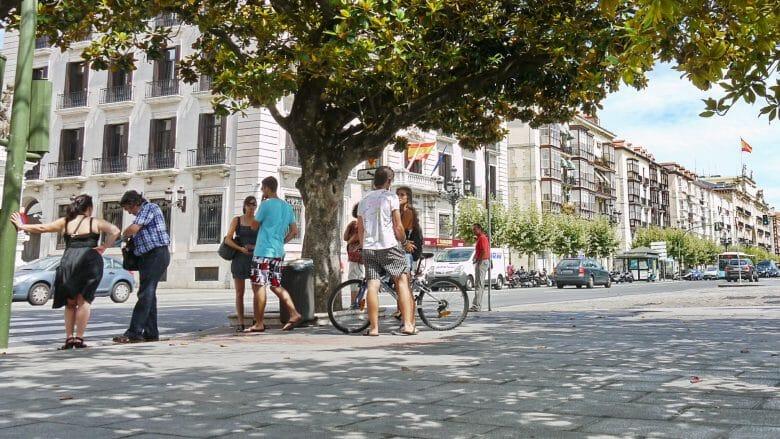 Straßenszene in Santander