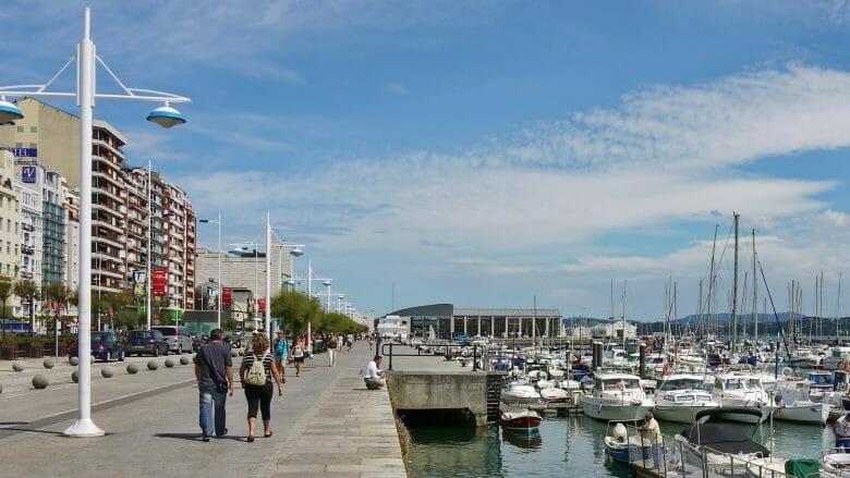 Paseo Marítimo, die Strandpromenade von Santander