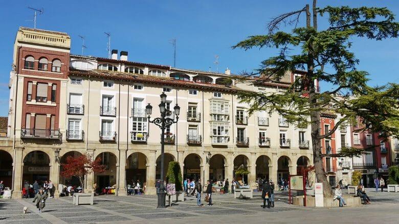Plaza del Mercado, der zentrale Marktplatz in Logroño