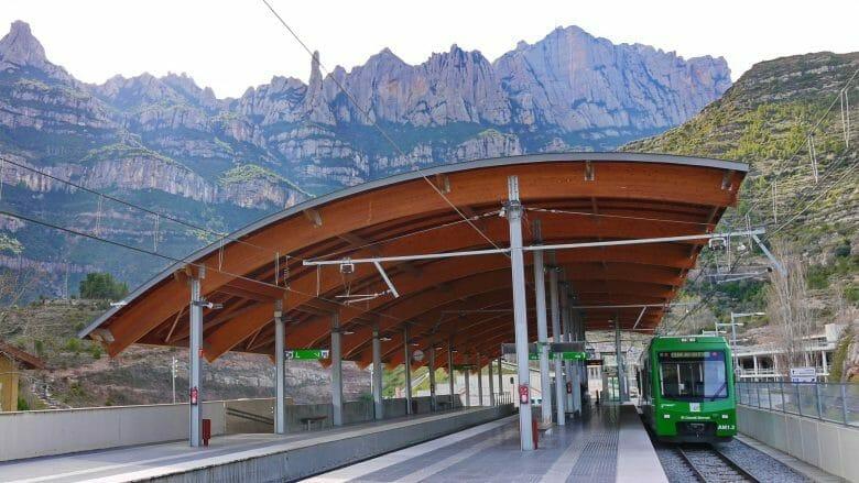 Station Monistrol-Vila der Zahnradbahn Cremallera