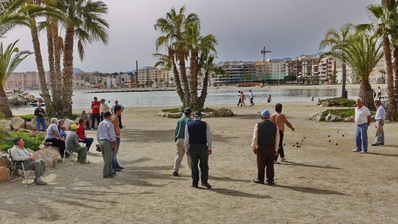 Anfang April am Strand von Águilas