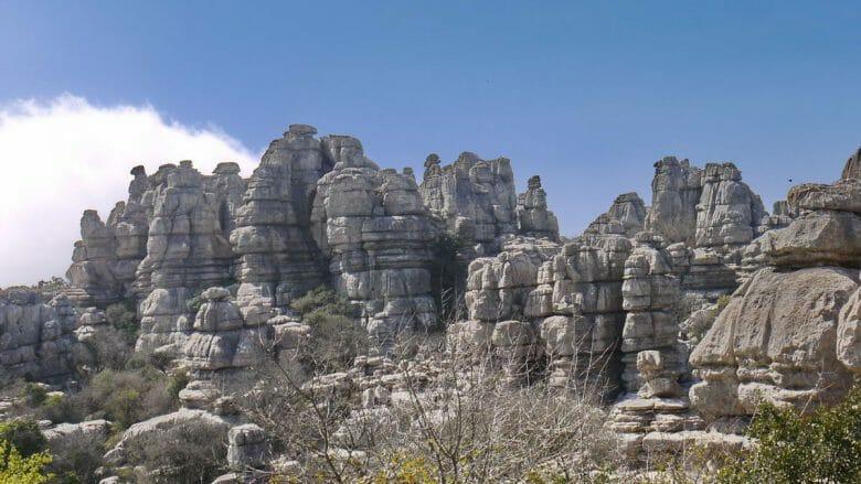 Felsformation im Naturpark El Torcal