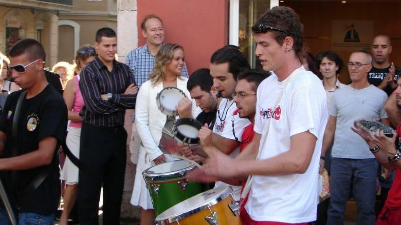 Musikgruppe während des Patronatsfest Ende September