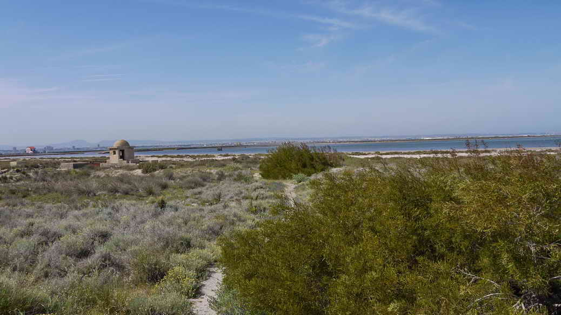 Blick auf die Küste am Mar Menor