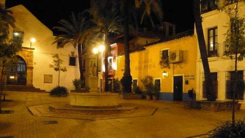 Am Abend in der Altstadt von Marbella