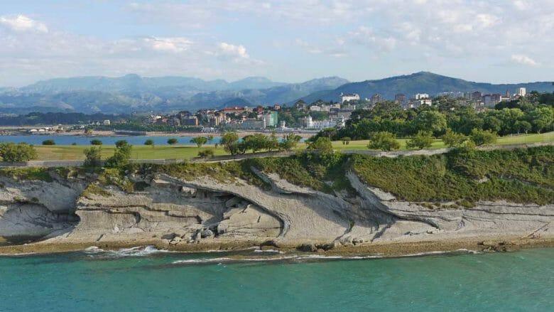 Blick auf das El Sardinero Viertel von Santander