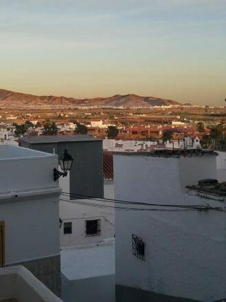 Abendlicher Blick von der Altstadt auf die Umgebung