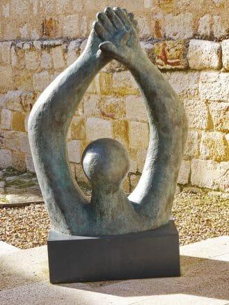 Skulptur von Baltasar Lobo im Castillo von Zamora