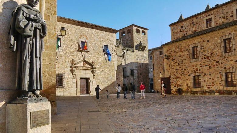 In der mittelalterlichen Altstadt von Cáceres
