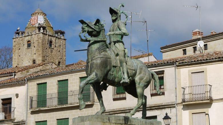 Francisco Pizarro in Trujillo (Extremadura)