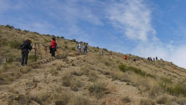 Bardenas Reales: Aufstieg auf den Cabezo de las Cortinillas