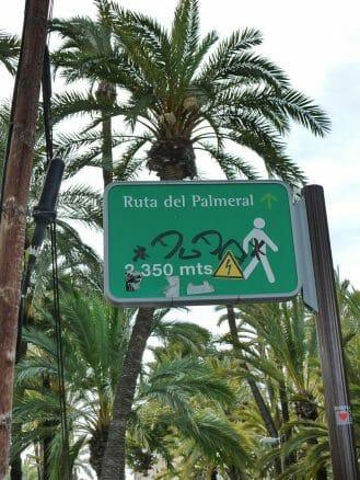 Ruta del Palmeral, der Rundweg durch den Palmenwald von Elche