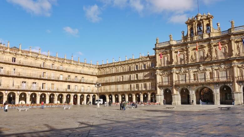 Plaza Mayor in Salamanca, der schönste Hauptplatz in Spanien
