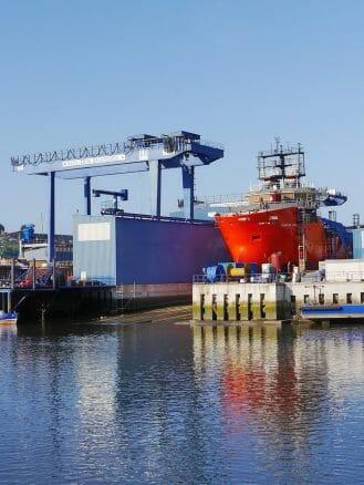 Astillero Balenciega, Werft am Río Urola