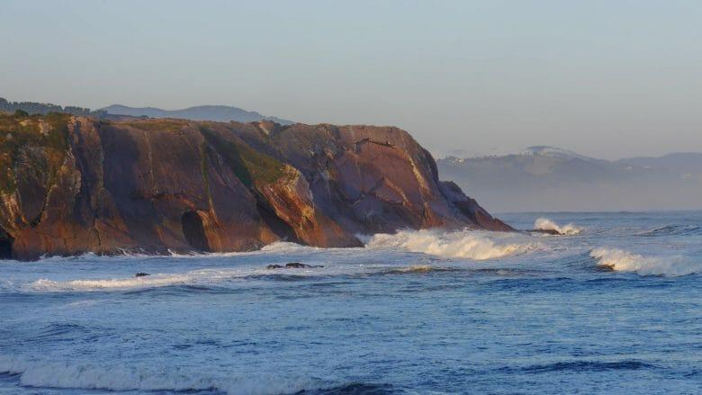 Die baskische Küste bei Zumaia