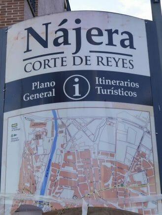 Karte von Nájera