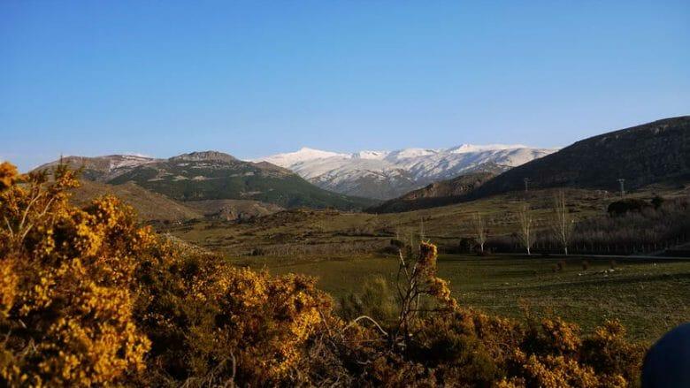 Blick von Norden auf die Sierra Nevada