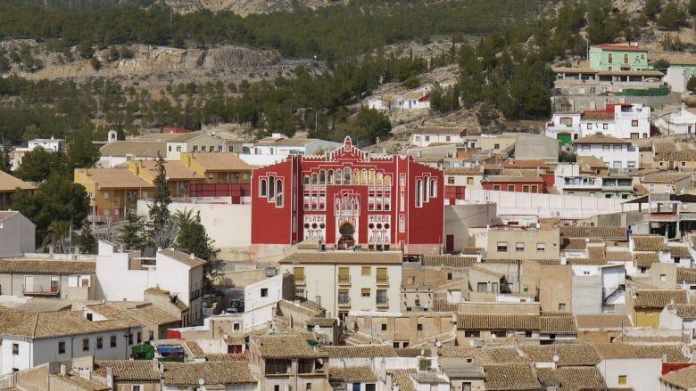 Die Stierkampfarena Plaza de Toros in Caravaca de la Cruz