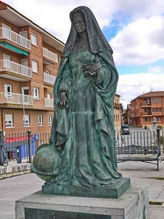 Denkmal für Juana I de Castilla in Tordesillas