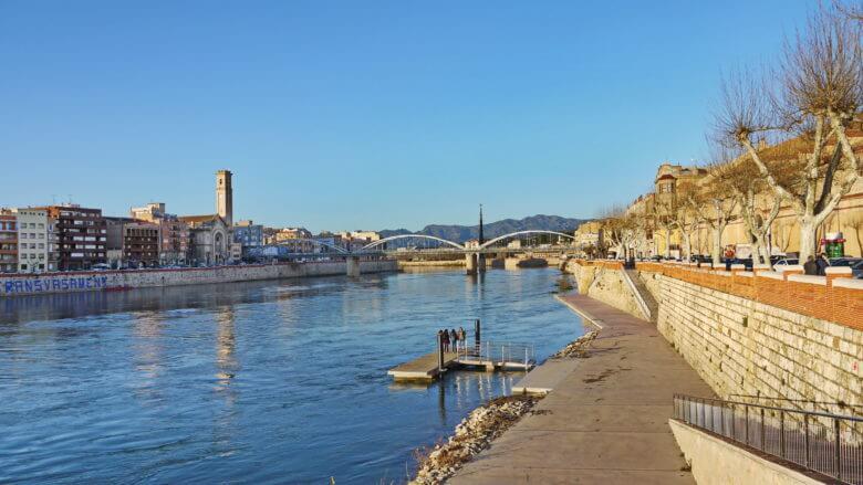 Der Fluss Ebro bei Tortosa