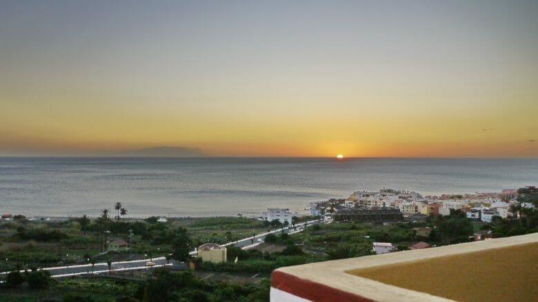 Sonnenuntergang von La Calera aus gesehen