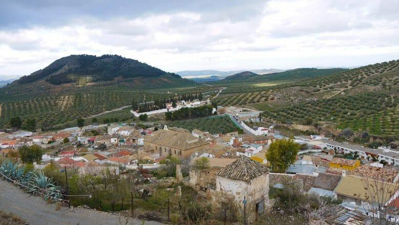 Blick auf die Landschaft in der Umgebung von Alcaudete