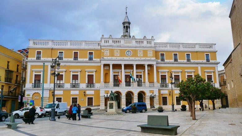 Das Rathaus von Badajoz