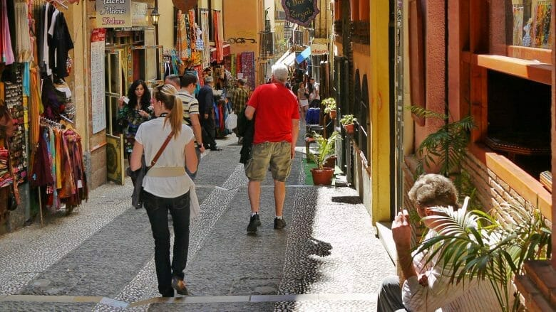 Im maurischen Viertel Albaicin von Granada