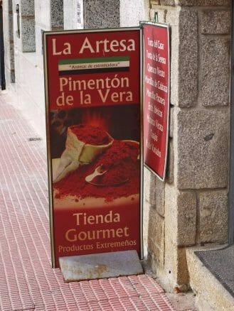 Werbung für das Paprikapulver Pimentón de la Vera