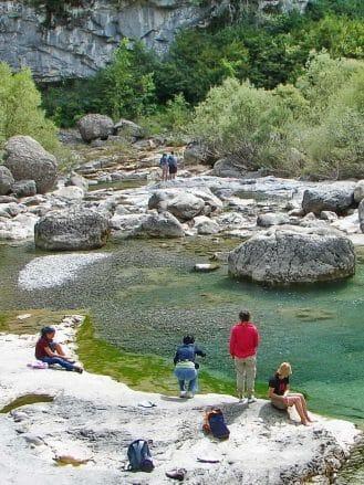 Wanderpause im Cañón de Añisclo