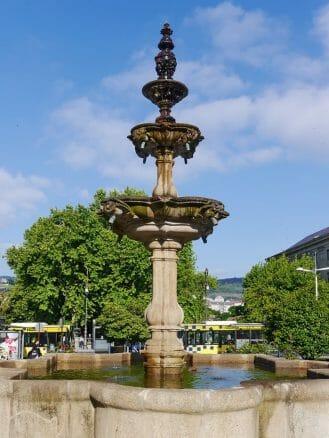 Brunnen im Parque de Alameda