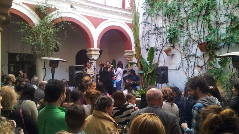 Flamenco Konzert in einem Innenhof in Jerez