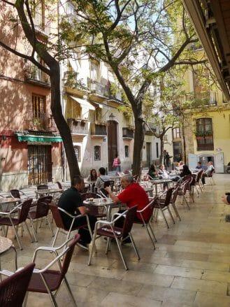 Platz in El Carme, dem ältesten Stadtteil von Valencia
