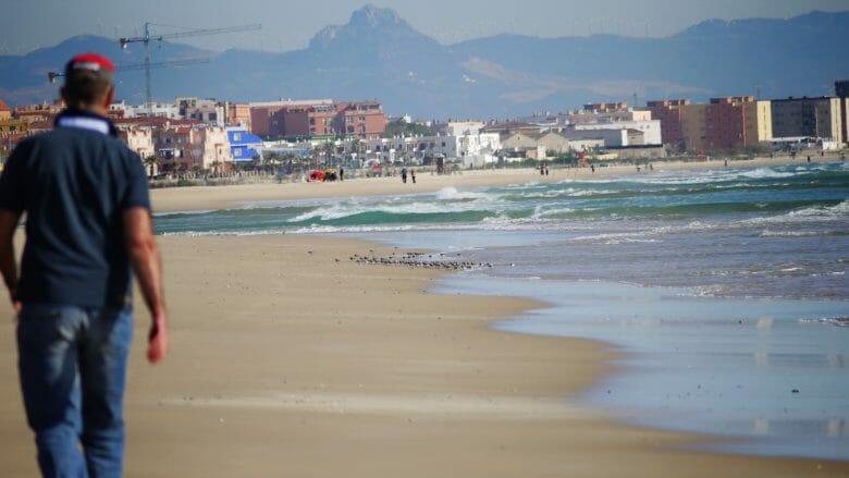 Spaziergang am Playa de Los Lances in Tarifa