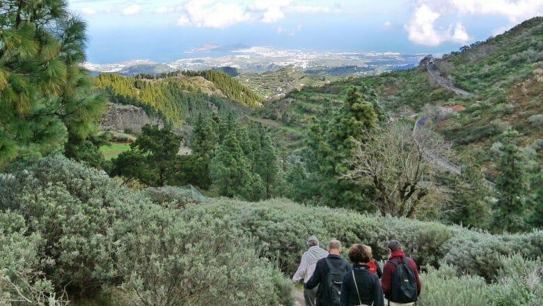 Wandern auf Gran Canaria vom Cruz de Tejeda nach Teror