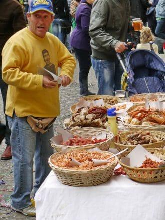 Frittierte Meeresfrüchte, eine Spezialität in Cádiz