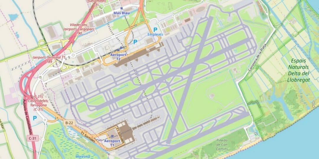 Flughafen Barcelona (Katalonien)