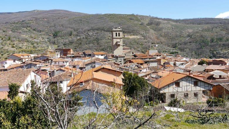 Das Dorf Garganta la Olla in der Comarca de la Vera