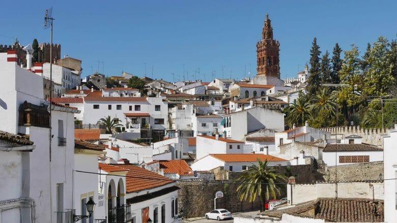 Blick auf die Altstadt von Jerez de los Caballeros