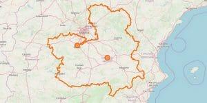 Kastilien La Mancha Karte im Reiseführer
